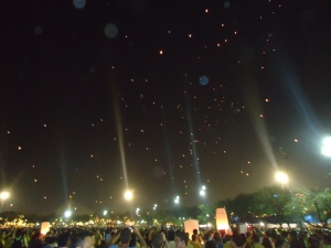 Le ciel plein de Khom Loi. Vraiment magnifique!!